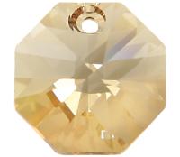 # 6401 - 14mm Swarovski Octagon Pendant - Golden Shadow