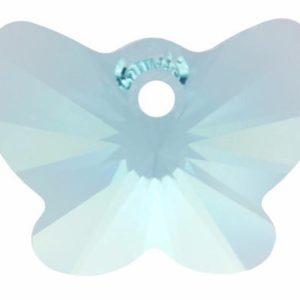 # 6754 - 18mm Swarovski Butterfly Pendant - Aquamarine
