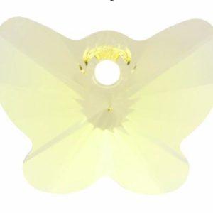 # 6754 - 18mm Swarovski Butterfly Pendant - Jonquil