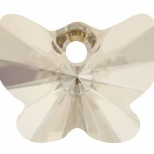 # 6754 - 18mm Swarovski Butterfly Pendant - Silver Shade
