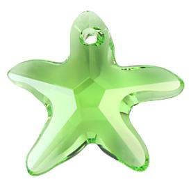 # 6721 - 16mm Swarovski Starfish Pendant - Peridot