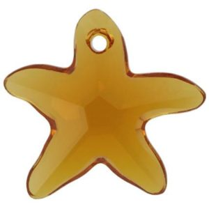 # 6721 - 20mm Swarovski Starfish Pendant - Topaz