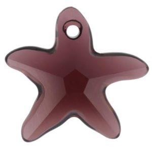 # 6721 - 20mm Swarovski Starfish Pendant - Burgundy
