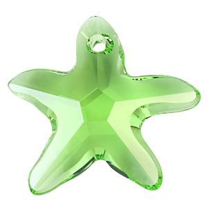 # 6721 - 20mm Swarovski Starfish Pendant - Peridot