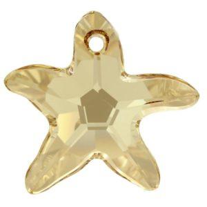 # 6721 - 40mm Swarovski Starfish Pendant - Golden Shadow