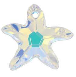 # 6721 - 40mm Swarovski Starfish Pendant - Crystal AB
