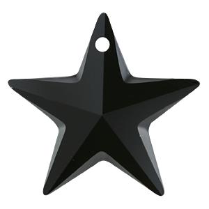 # 6714 - 20mm Swarovski Star Pendants - Jet