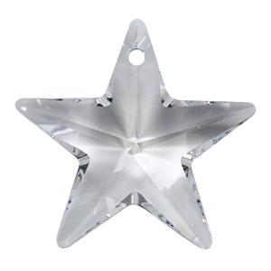 # 6714 - 28mm Swarovski Star Pendants - Crystal