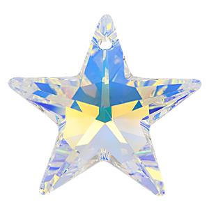 # 6714 - 28mm Swarovski Star Pendants - Crystal AB