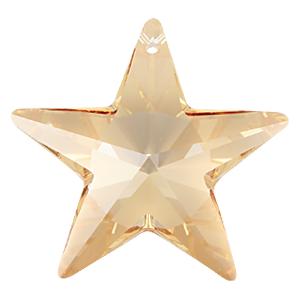 # 6714 - 28mm Swarovski Star Pendants - Golden Shadow