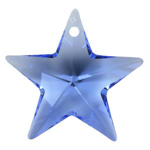 # 6714 - 28mm Swarovski Star Pendants - Light Sapphire
