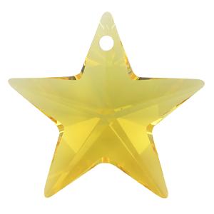 # 6714 - 28mm Swarovski Star Pendants - Light Topaz