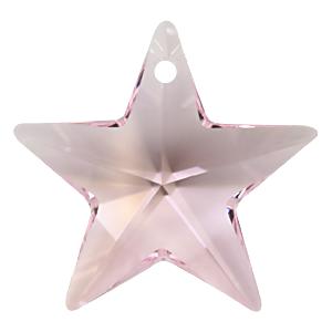 # 6714 - 28mm Swarovski Star Pendants - Rosaline
