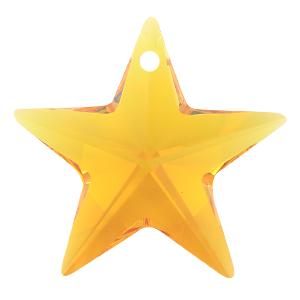 # 6714 - 28mm Swarovski Star Pendants - Topaz