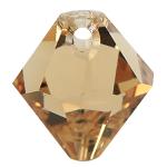 # 6301 - 6mm Swarovski Top Hole Bicone Pendant- Light Col Topaz