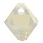 # 6301 - 6mm Swarovski Top Hole Bicone Pendant- Light Grey Opal