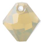 # 6301 - 6mm Swarovski Top Hole Bicone Pendant- Sand Opal