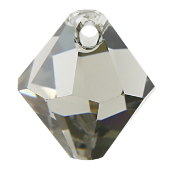 # 6301 - 6mm Swarovski Top Hole Bicone Pendant- Black Diamond