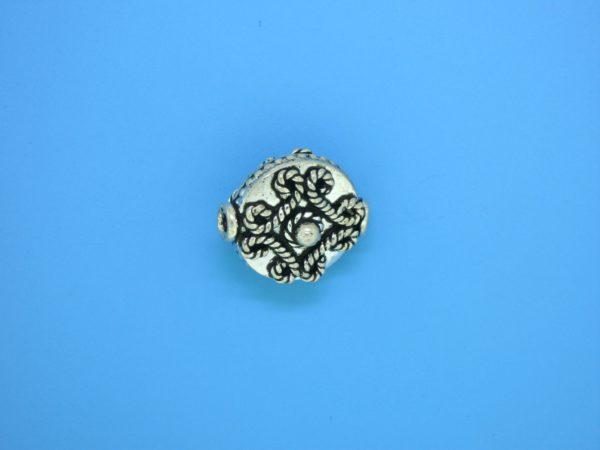 15183 - Bali Silver Bead 17x14mm