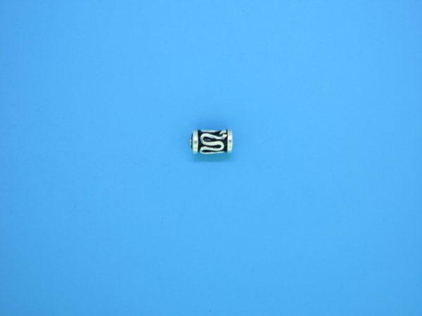 15193 - Bali Silver Cylindrical Bead 4x6mm