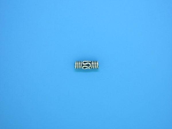15194 - Bali Silver Cylindrical Bead 3x9mm