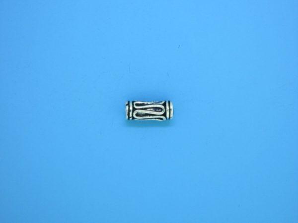 15198 - Bali Silver Cylindrical Bead 4.5x11mm
