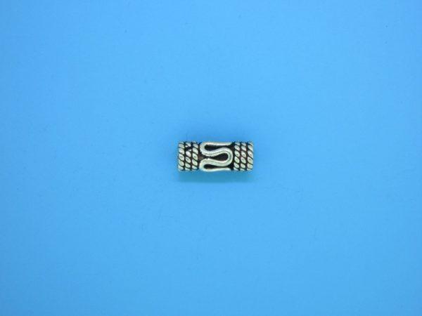 15201 - Bali Silver Cylindrical Bead 5x12mm
