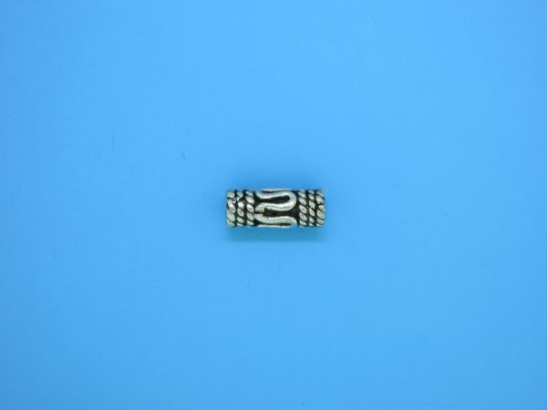 15202 - Bali Silver Cylindrical Bead 5x12mm