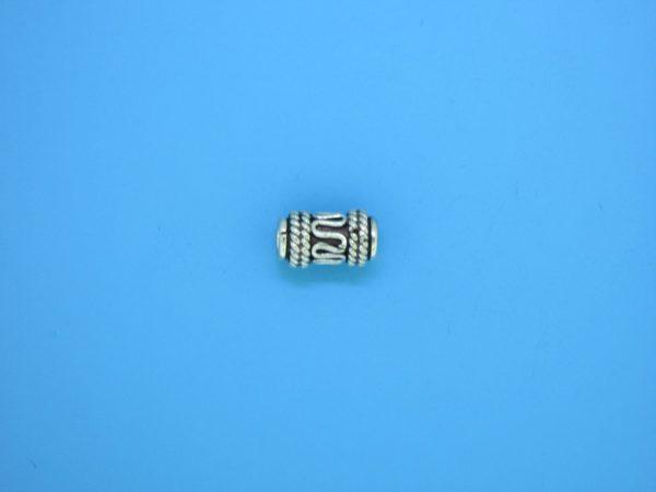 15203 - Bali Silver Cylindrical Bead 6x11mm