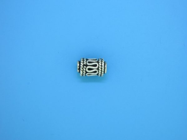 15204 - Bali Silver Cylindrical Bead 6x9.5mm