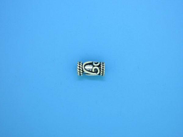 15208 - Bali Silver Cylindrical Bead 5x10mm