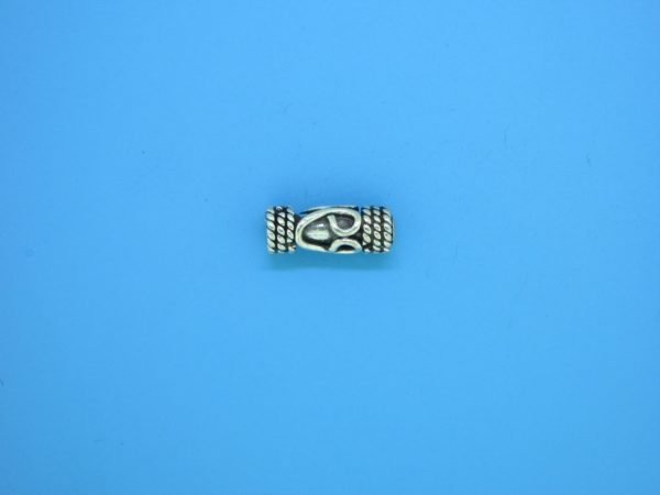 15209 - Bali Silver Cylindrical Bead 5x12mm