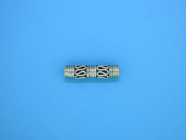 15212 - Bali Silver Cylindrical Bead 4.5x19mm