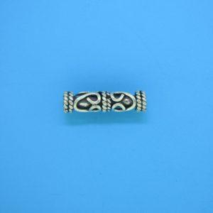 15213 - Bali Silver Cylindrical Bead 5x20mm