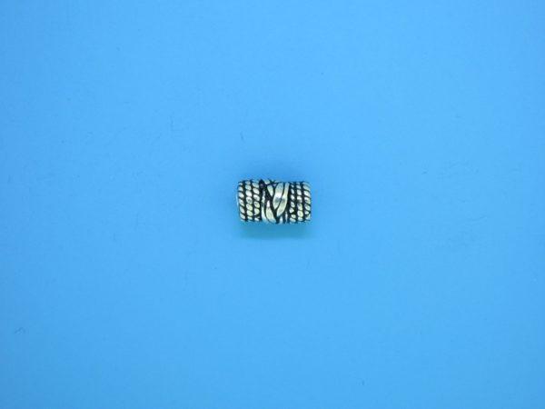 15214 - Bali Silver Cylindrical Bead 5x20mm