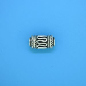 15215 - Bali Silver Cylindrical Bead 8x15mm