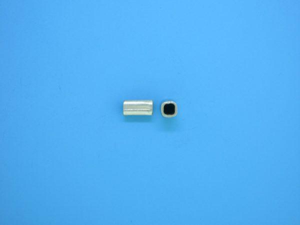 15220 - Bali Silver Tube Bead 3x6.5mm