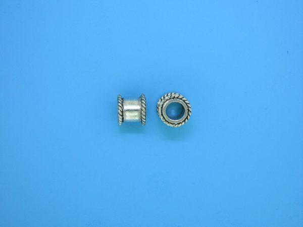 15227 - Bali Silver Cylindrical Bead 7x7mm