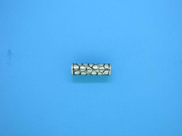 15231 - Bali Silver Cylindrical Bead 4.5x14mm