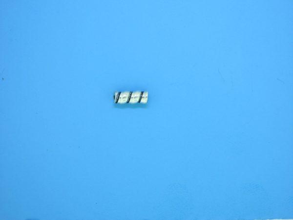 15233 - Bali Silver Cylindrical Bead 3x7mm