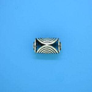 15234 - Bali Silver Cylindrical Bead 9x15mm
