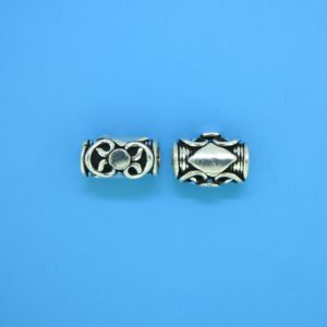 15242 - Bali Silver Cylindrical Bead 8x11mm