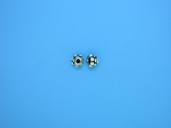 15243 - Bali Silver Tiny Granulated Bead Cap