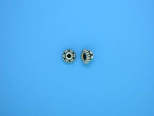 15249 - Bali Silver Tiny Granulated Bead Cap