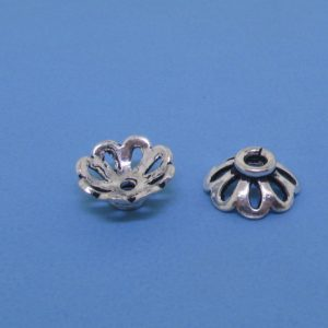 15252 - Bali Silver Bead Cap 4x9mm