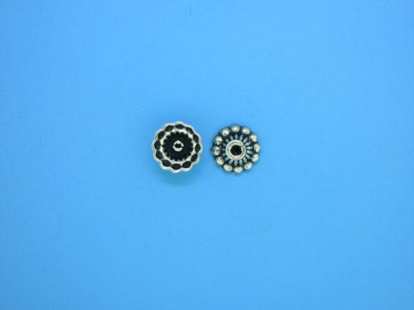 15253 - Bali Silver Bead Cap 4x8mm