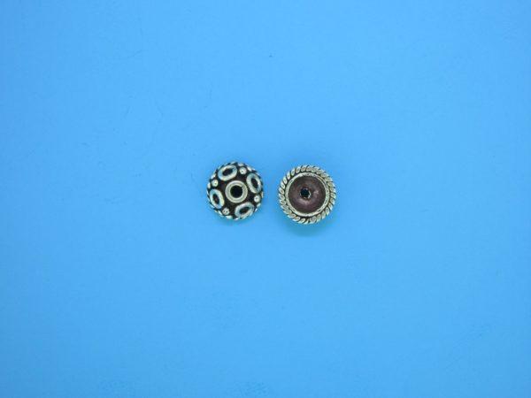 15254 - Bali Silver Bead Cap 3x7mm
