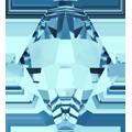 #6301 - 8mm Swarovski Top Hole Bicone Pendant- Aquamarine