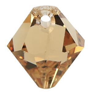 #6301 - 8mm Swarovski Top Hole Bicone Pendant- Light Col Topaz