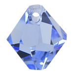 #6301 - 8mm Swarovski Top Hole Bicone Pendant- Light Sapphire